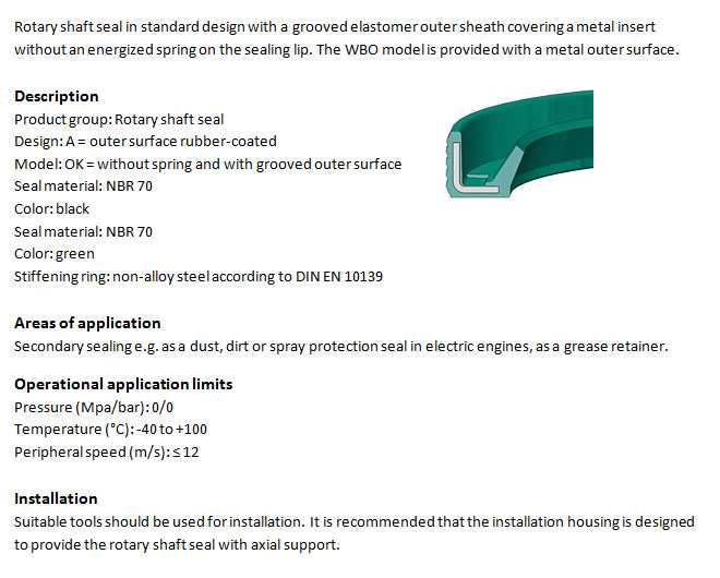 Rotary Shaft Seal Profile - WAOK